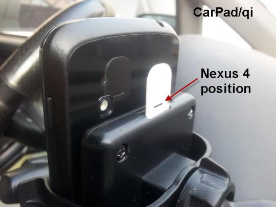 CarPad qi L1 nexus 4 680